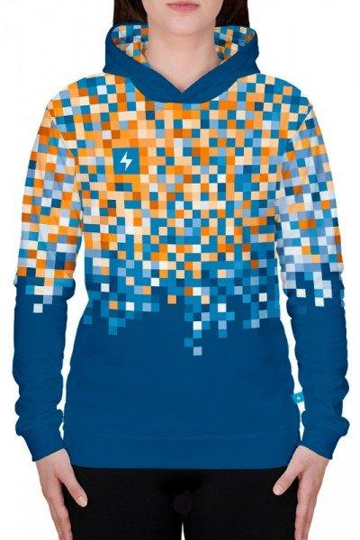 damska bluza sportowa z kapturem - przód