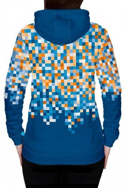 damska bluza sportowa z kapturem - tył