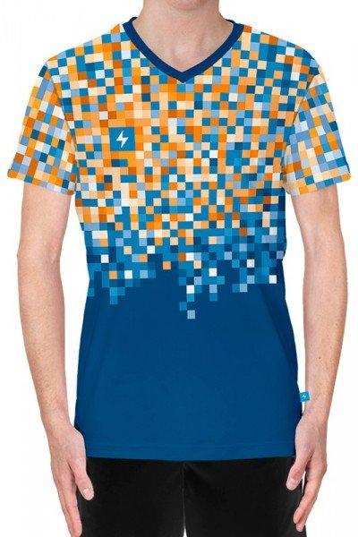koszulka biegowa v-neck z nadrukiem - przód